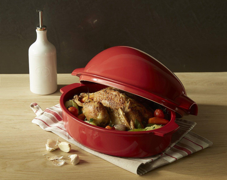 Керамическая жаровня с курицей Керамическая жаровня с курицей