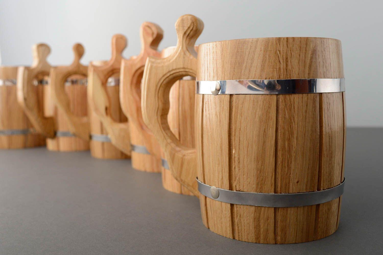 кружки деревянные фото
