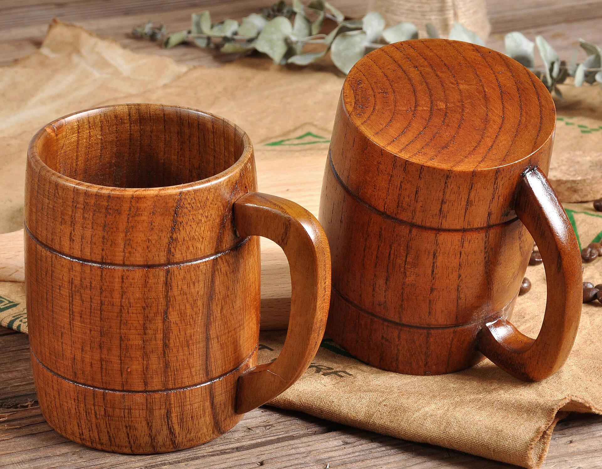 кружки деревянные