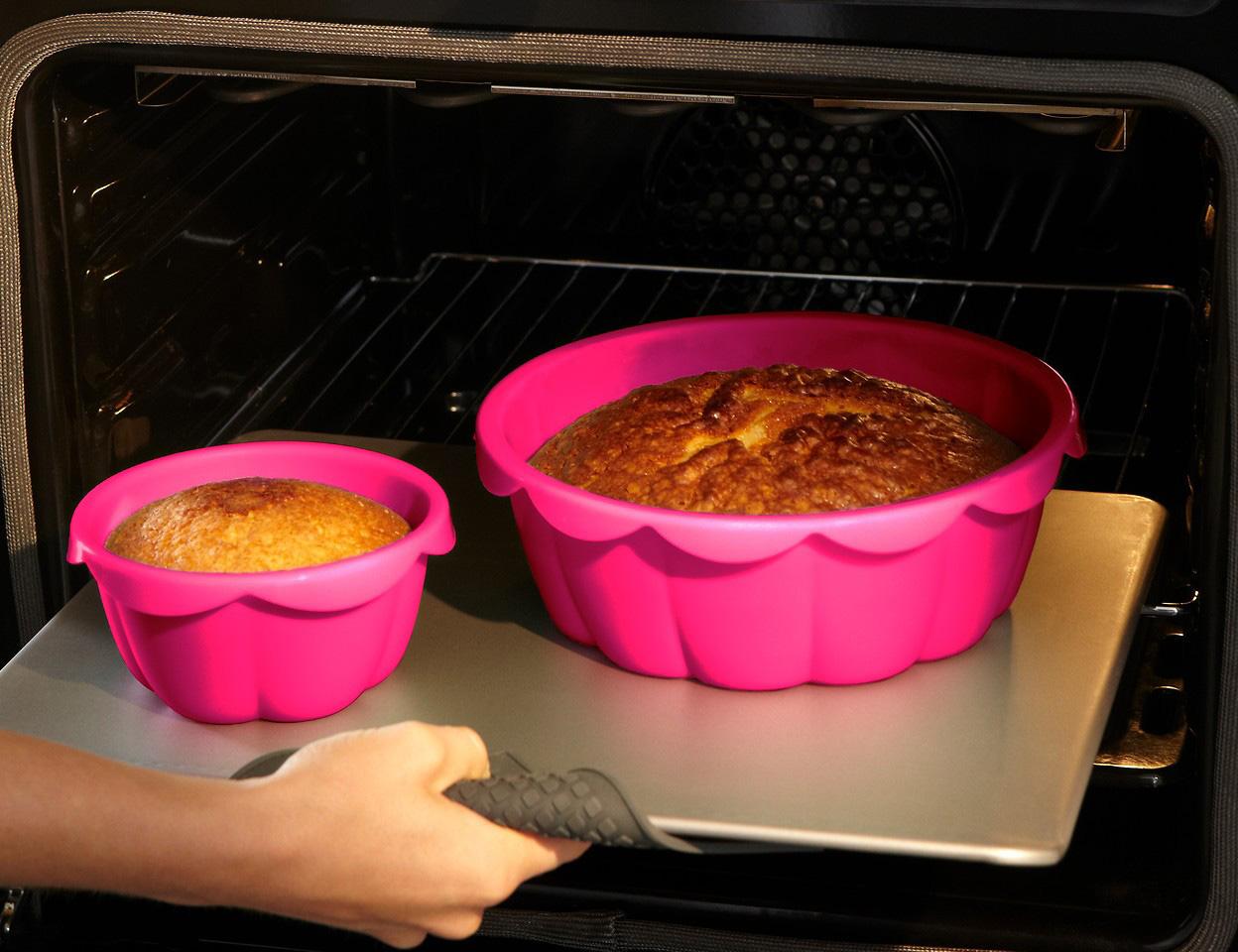 силиконовая форма в газовой духовке