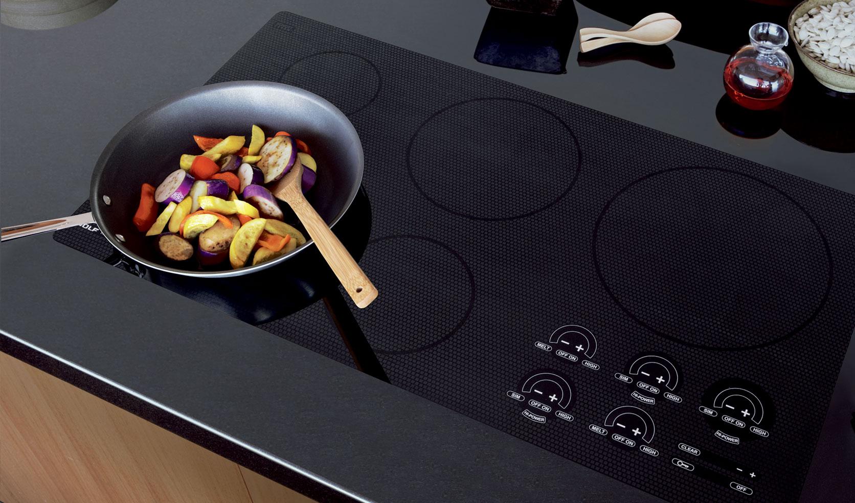 сковорода на электрической плите