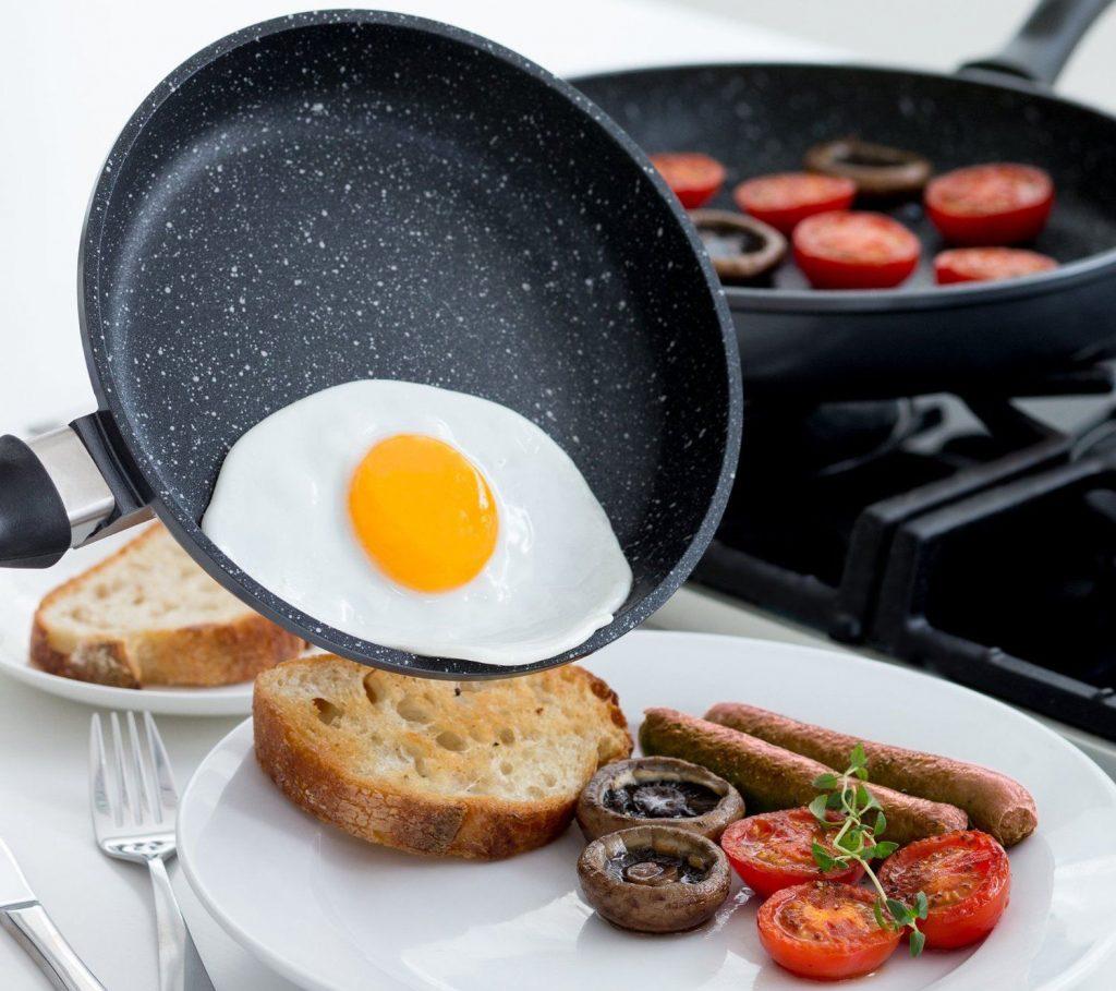 готовка на гранитной сковороде