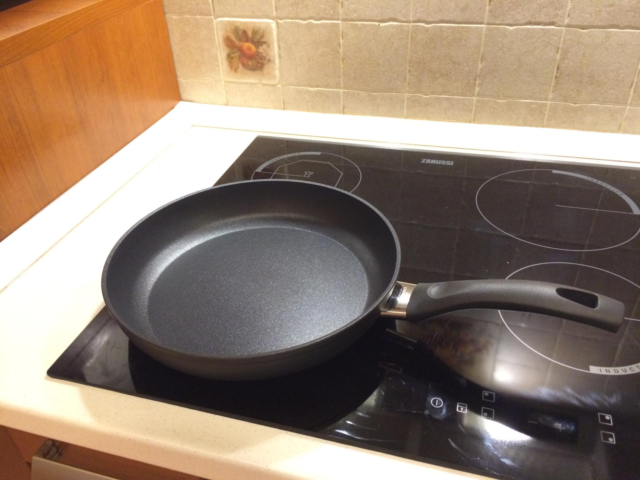 тефлоновая сковорода на плите
