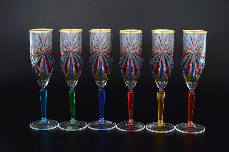 Фужеры для шампанского из чешского стекла