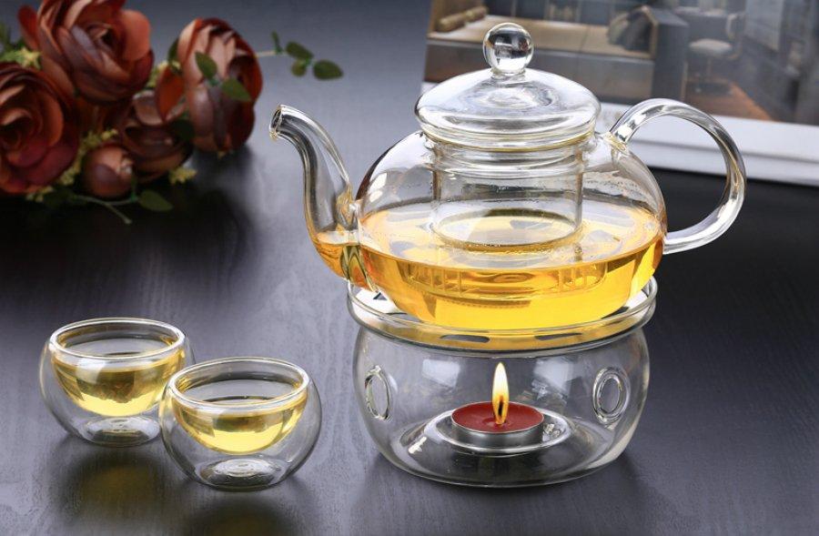 чайник с заварочной колбой и подогревом
