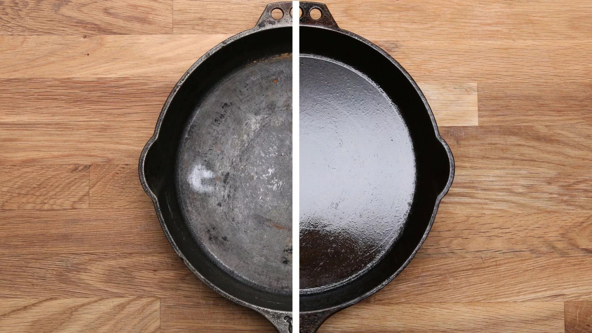 как восстановить чугунную сковороду