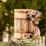 деревянная кружка декор