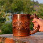 деревянная кружка фото декора