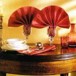 как красиво сложить салфетки декор