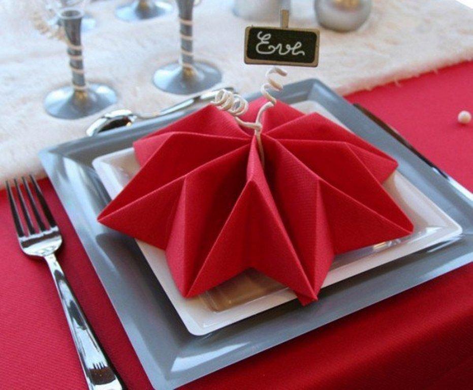 салфетки на праздничный стол