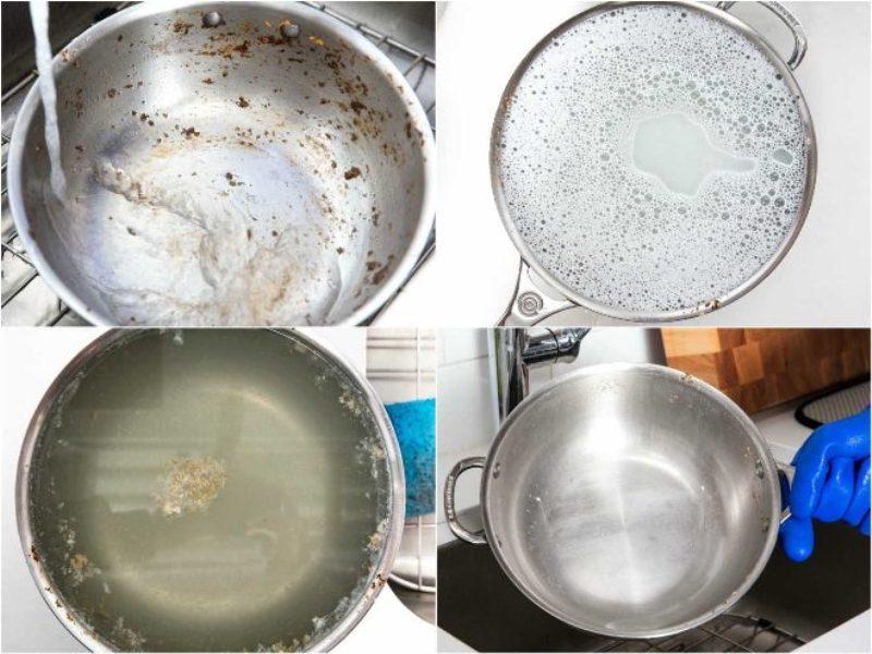 как отмыть карамель от посуды