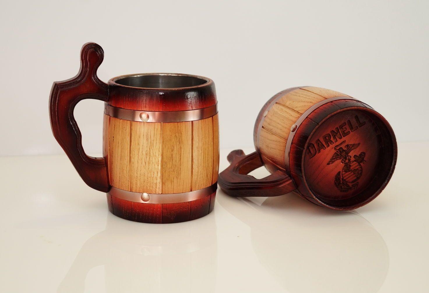 кружка деревянная с гравировкой