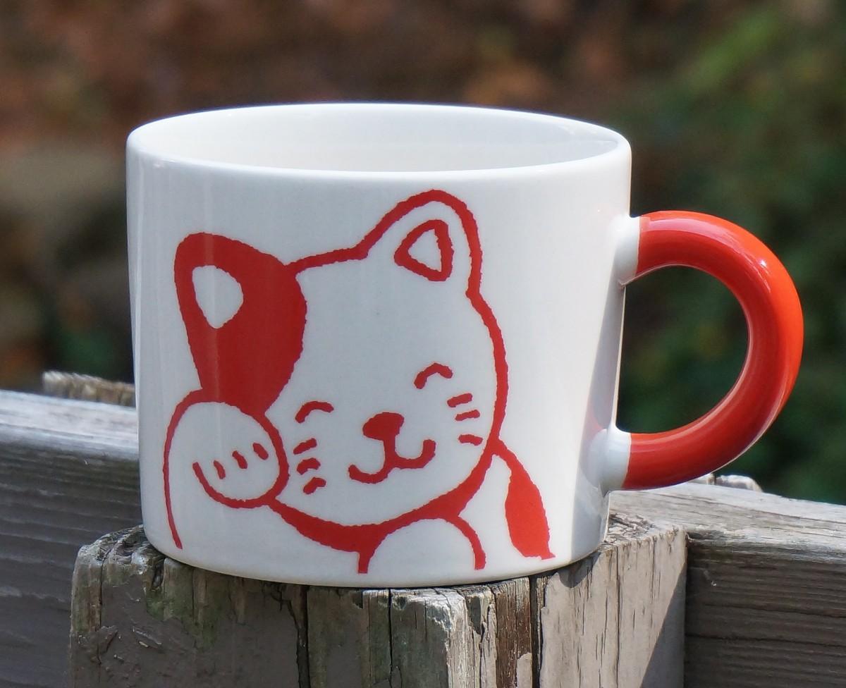 керамическая кружка с котиком