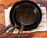 набор чугунных сковородок