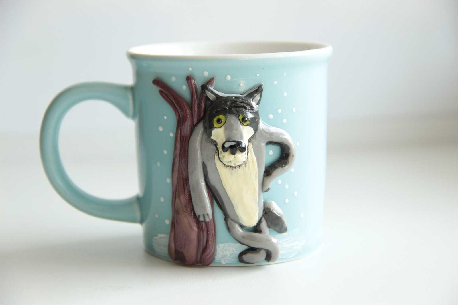 кружка для кофе с волком