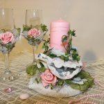 свадебный декор бокалов дизайн фото