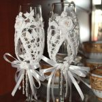 свадебный декор бокалов фото дизайна