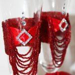свадебный декор бокалов оформление фото