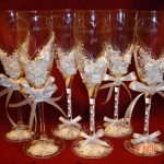 свадебный декор бокалов идеи фото