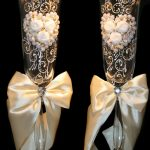 свадебный декор бокалов фото оформления