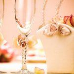 свадебный декор бокалов идеи оформление