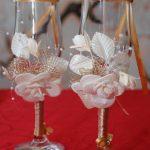 свадебный декор бокалов идеи варианты