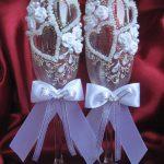 свадебный декор бокалов идеи вариантов