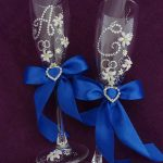 свадебный декор бокалов фото обзоры