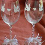 свадебный декор бокалов виды оформления