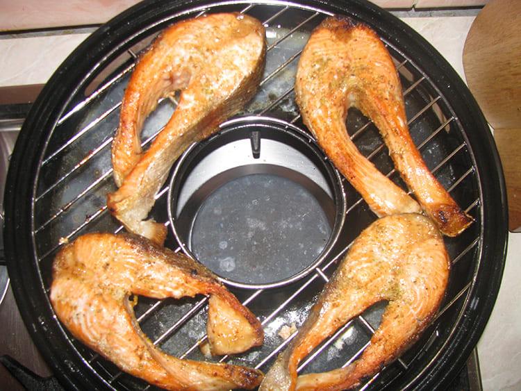сковорода гриль газ рыба