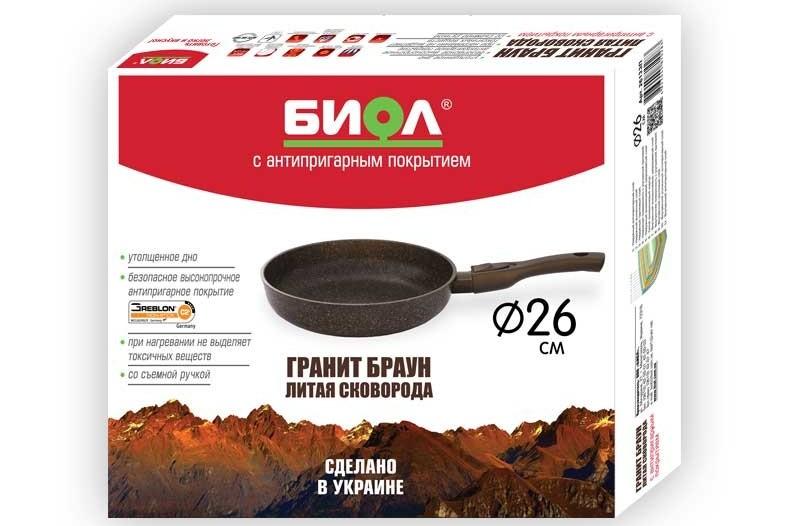 сковорода биол гранит браун