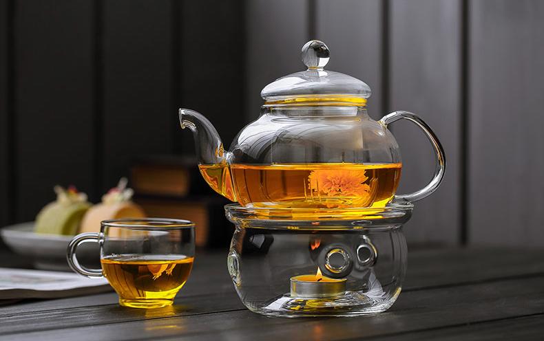 стеклянный заварочный чайник с подогревом