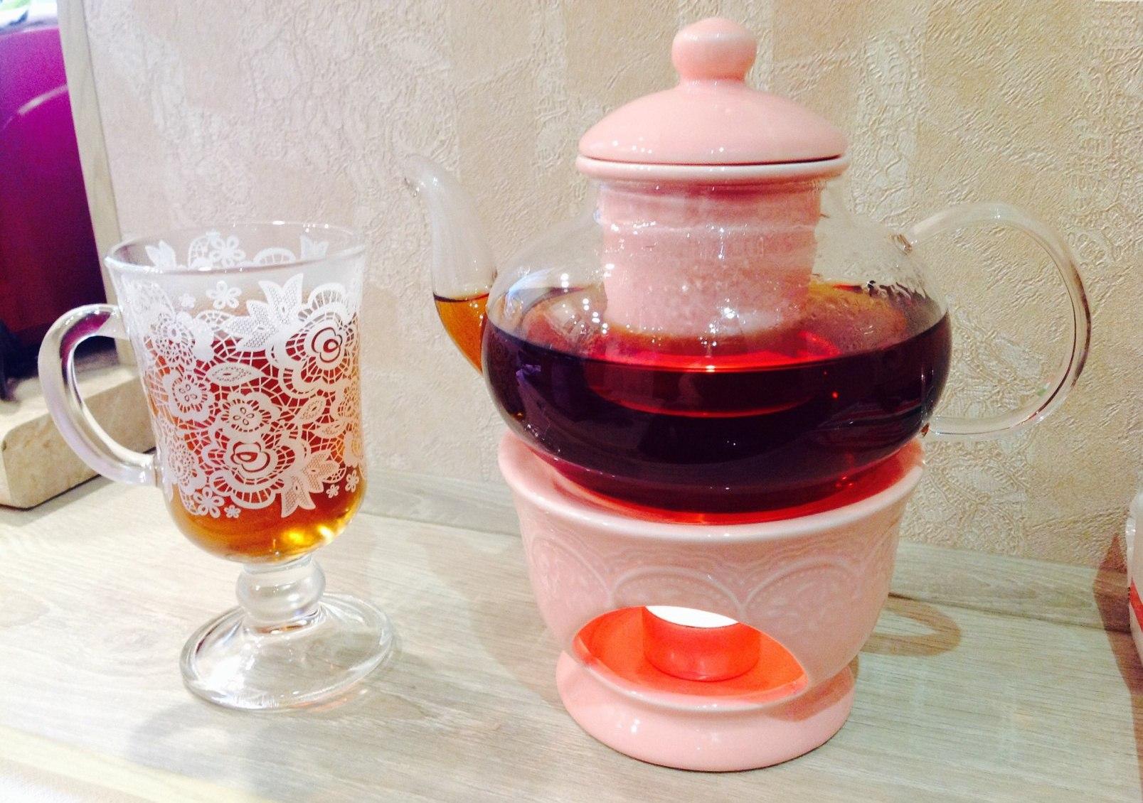 заварочный чайник с подогревом от свечи фото