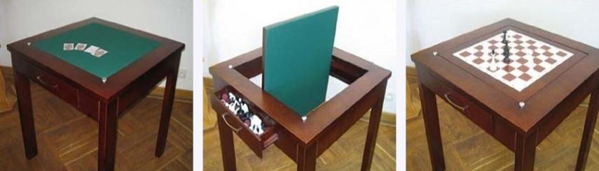 Ломберный стол перевертыш с ящиком