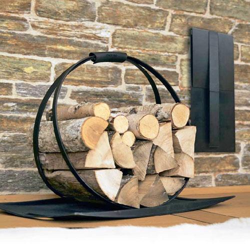 Переносная дровница с поддоном для камина