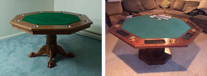 Восьмиугольные столы для покера
