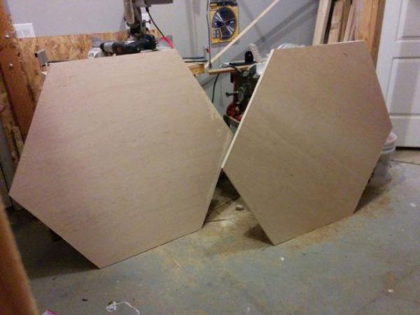 Вырезание шестиугольников из фанеры